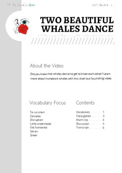 Two Beautiful Whales Dance - ESL Worksheet