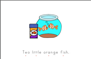 Two Orange Fish Early Emergent Reader (Big & Little) - BUNDLE