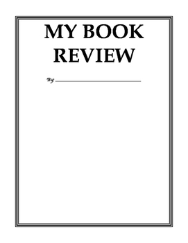 Book Review Templates - 3 of them!
