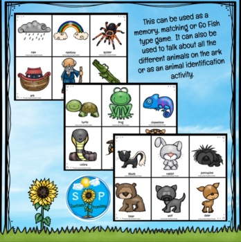 Two By Two Noah's Ark Matching Game with Card Backs