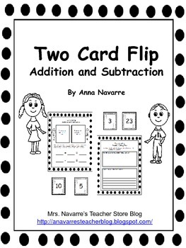 Two Card Flip - Addition and Subtraction