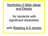 Two Central Ideas in a Nonfiction Text for Students with S