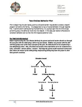 Two Choice Behavior Plan