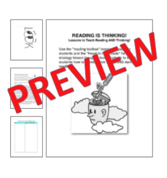 Reading Strategies Toolbox Lesson for Guided Reading: Reading is Thinking!