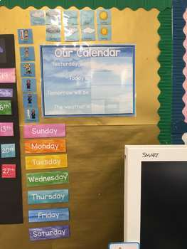 Two Classroom Interactive Calendars - Days of the week with Weather and Monthly