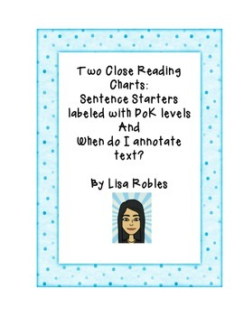 Two Close Reading Charts