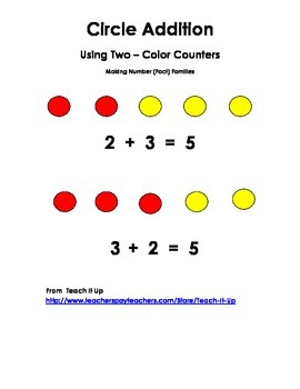 Two Color Addition Circle Counters K-1