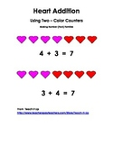Two Color Addition Heart Counters