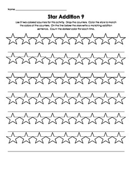 Two Color Addition Star Counters K-1