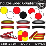 Two Color Double Sided Counters Clipart Math {Arty Clips}
