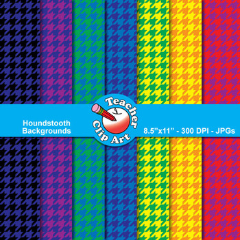 Two-Color Houndstooth Backgrounds — 12 Backgrounds