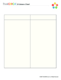 Two Column Chart- Graphic Organizer