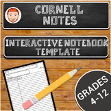 Two Column Notes Template- Perfect for Interactive Notebooks!