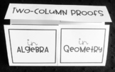 Two-Column Proofs-  Geometry Foldable