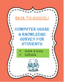 Back to School! Two Computer Usage Surveys To Help You Plan!