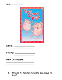 Two Crazy Pigs Comprehension Packet
