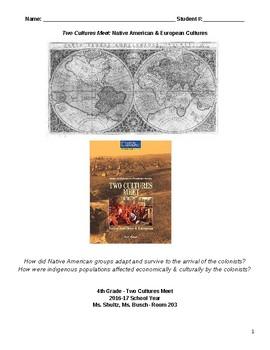 Two Cultures Meet: Native American & European Cultures Social Studies Unit