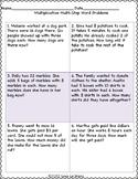 Multi-Step Multiplication Word Problems Worksheets
