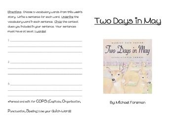 Two Days in May Activity Booklet