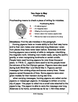 Two Days in May Original Activities and Standardized Test Practice