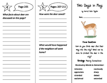 Two Days in May Trifold - Imagine It 3rd Grade Unit 2 Week 4