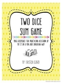 Two Dice Sum Addition Game