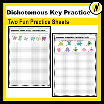 Dichotomous Key Practice Worksheets Teaching Resources TpT