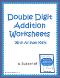 Math Two Digit Addition Worksheets, Adding Assessments Sheets