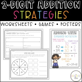 Two-Digit Addition Activities {both with and without regrouping}