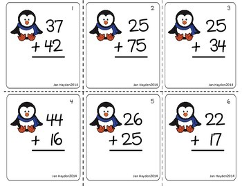 2Digit Addition Center Bundle
