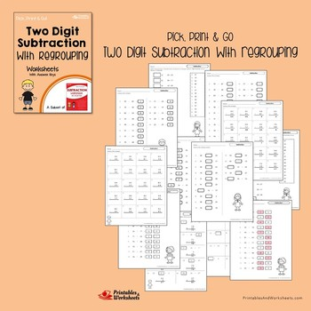 Two Digit Addition And Subtraction With Regrouping Worksheets