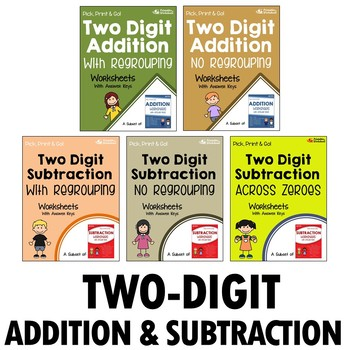 Two Digit Addition And Subtraction Worksheets and Printables