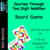 Two Digit Addition - Board Game - Center Activity