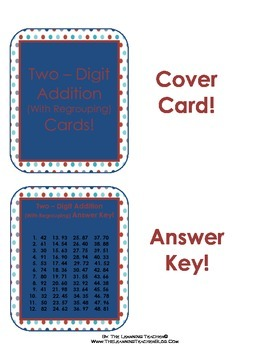 Two-Digit Addition Cards (With Regrouping)!