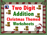 Two Digit Addition - Christmas Themed Worksheets - Vertical