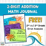 Two Digit Addition Error Analysis Math Journal FREEBIE!