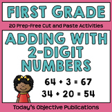 Two-Digit Addition First Grade (Cut and Paste Practice)