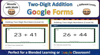 Two-Digit Addition (Google Forms – Different Levels!)