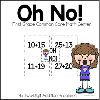 Two-Digit Addition Math Center