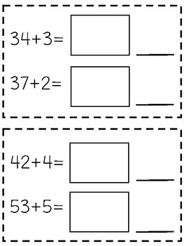 Two-Digit Addition Math Journals