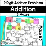 Two Digit Addition Maze Activity