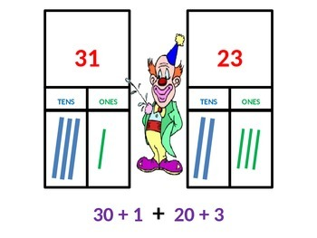 Two-Digit Addition Model and Draw