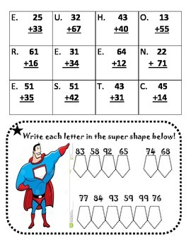 Two Digit Addition Mystery