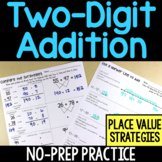 Two-Digit Addition No-Prep Printable Practice