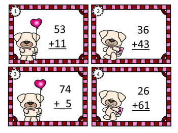 Two Digit Addition No Regrouping  Task Cards  Grades 1 and 2