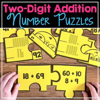 Two-Digit Addition Number Puzzles