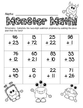 Two-Digit Addition Pack, No Regrouping