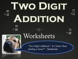 Two Digit Addition Packet (15 pages) Worksheets