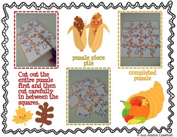 Two-Digit Addition Picture Puzzles {Autumn}