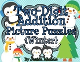 Two-Digit Addition Picture Puzzles {Winter}